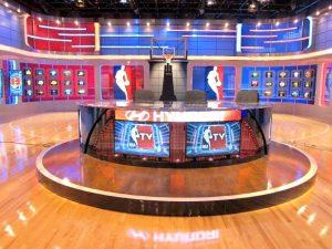 sports broadcaster podium