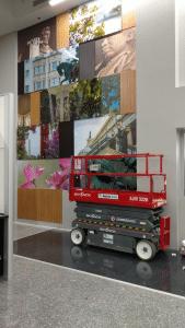 indoor wall banner installation