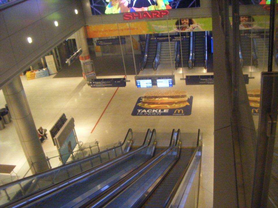 McDonalds floor graphic