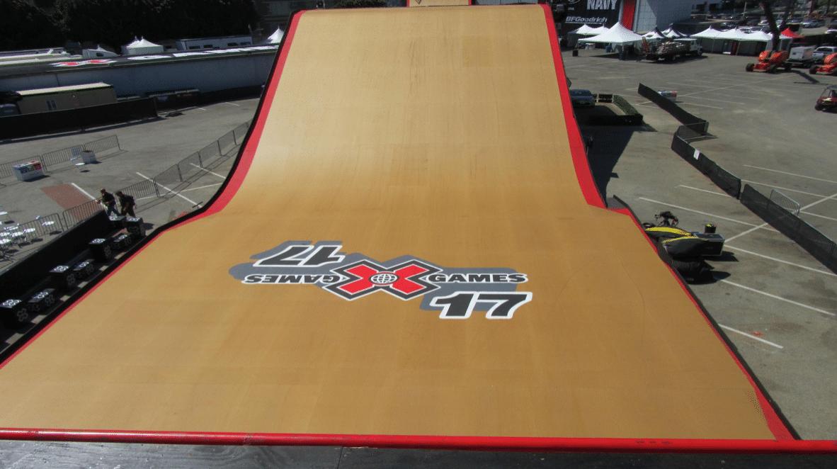 X Games ramp art