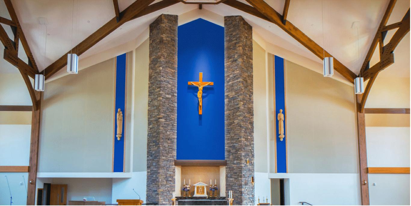 church architectural installation
