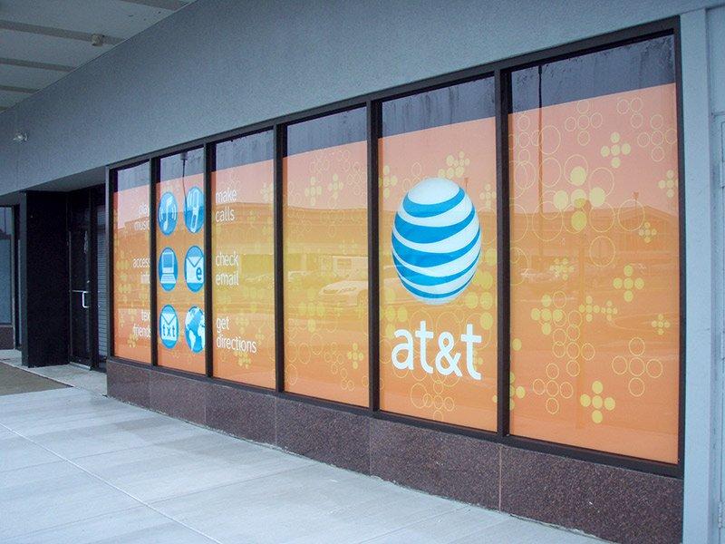 ATT Retail Window Signage