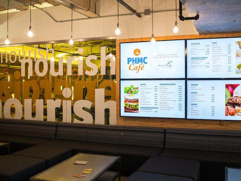 lighted menu display