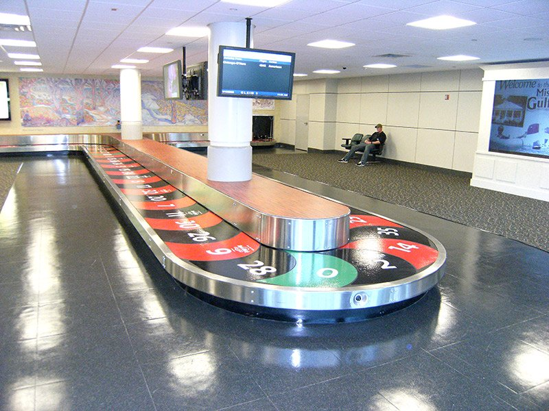 baggage claim surface graphics