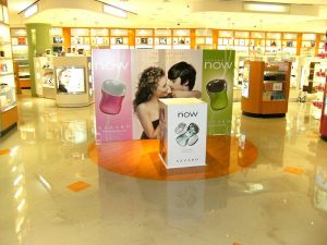 pop up display with banner