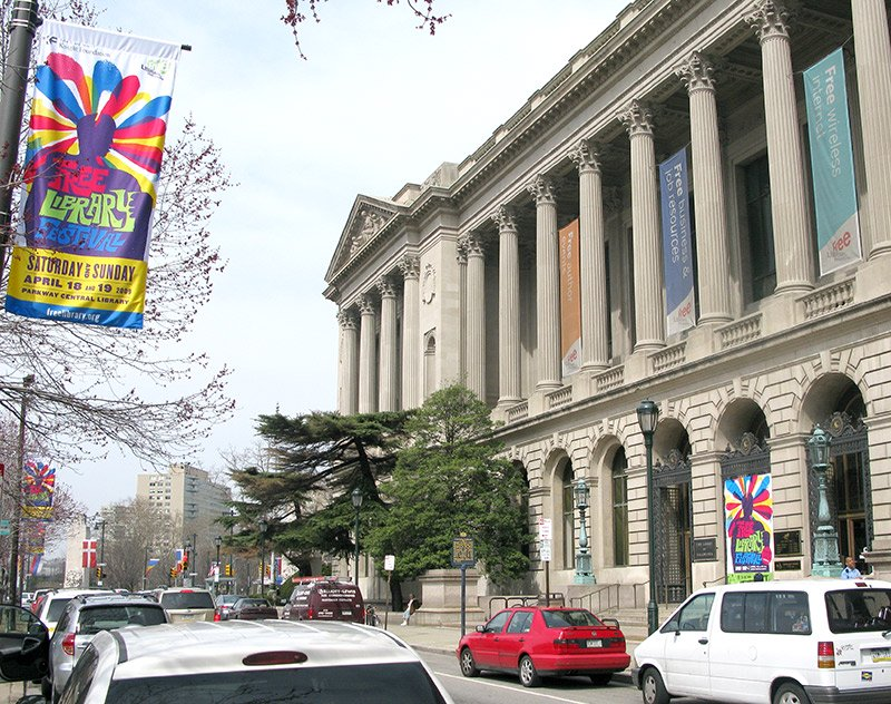 Free Library Festival Light Pole Banner