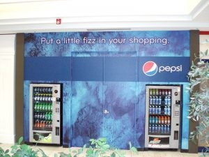 vending machine barricade graphic