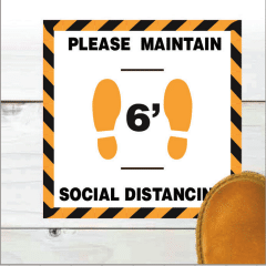 SOCIAL DISTANCING FLOOR SIGN SOLUTIONS