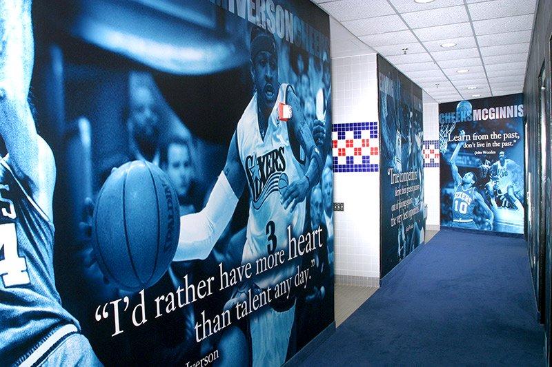 basketball wall installation